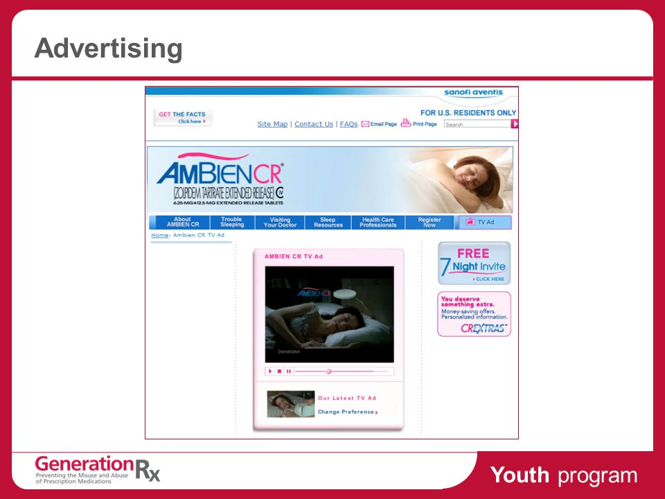 Youth program Advertising