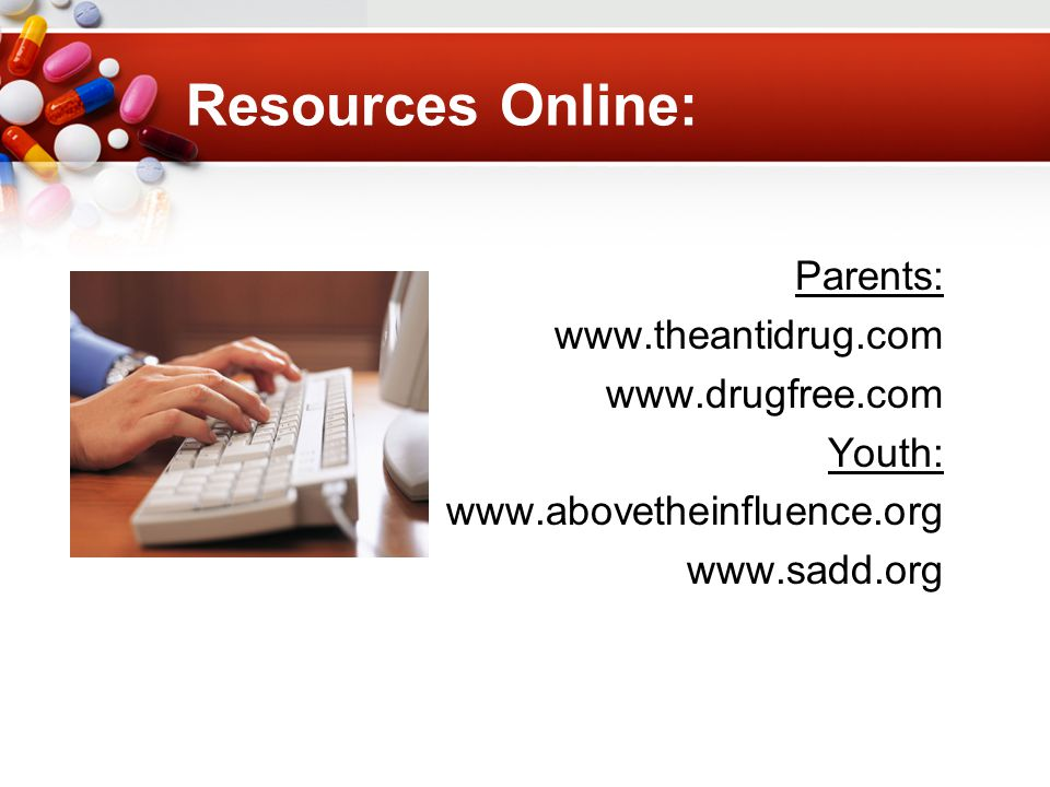 Resources Online: Parents:     Youth: