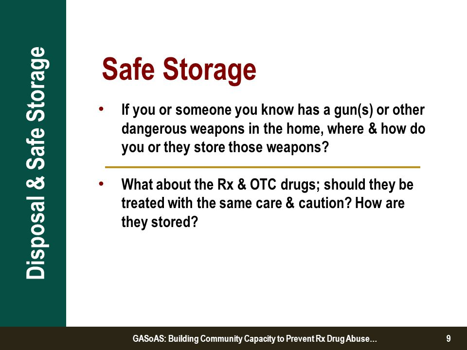 If someone was looking for or took Rx drugs from your home would you know.