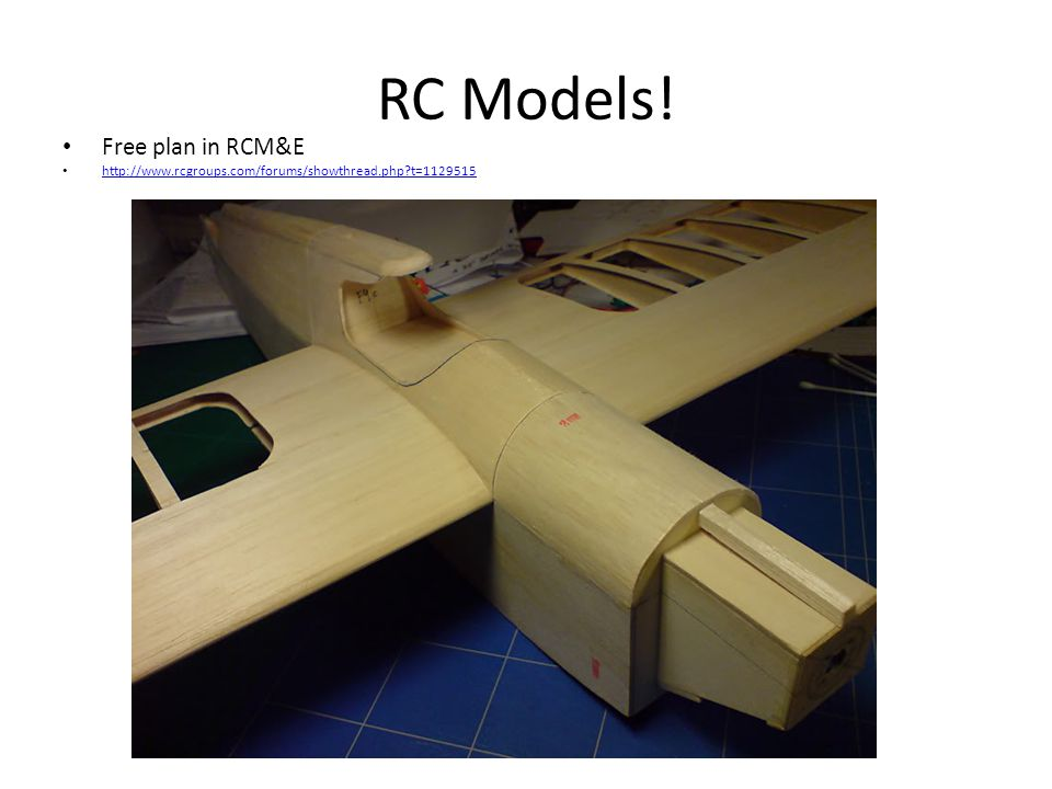 RC Models! Free plan in RCM&E http://www.rcgroups.com/forums/showthread.php t=1129515
