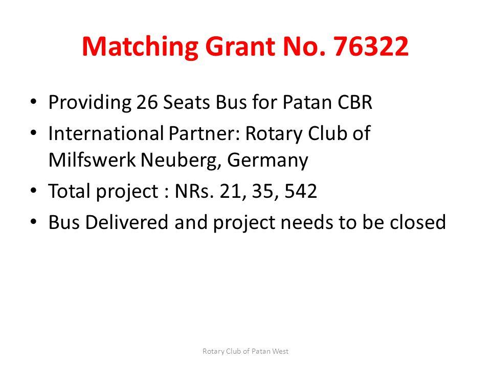 Matching Grant No.