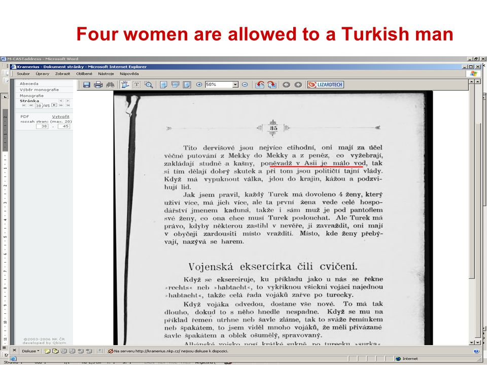 65 Four women are allowed to a Turkish man