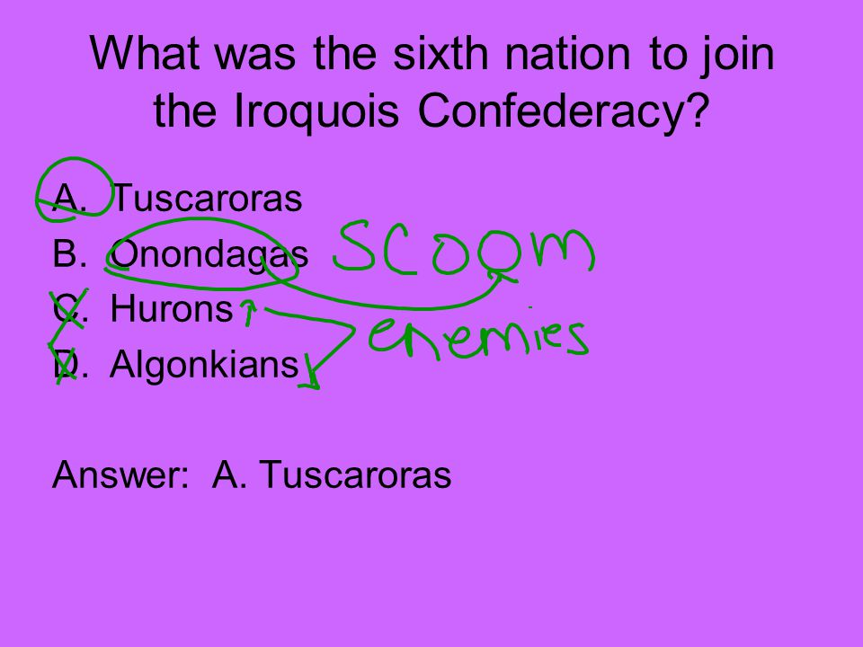 What was the sixth nation to join the Iroquois Confederacy.