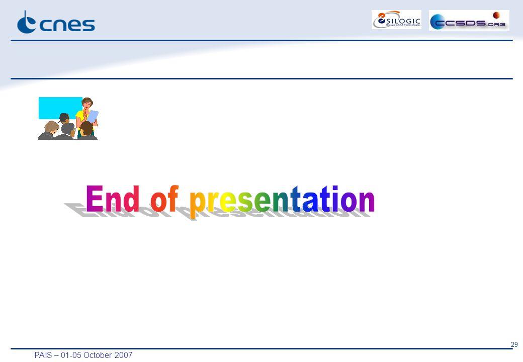 PAIS – 01-05 October 2007 29