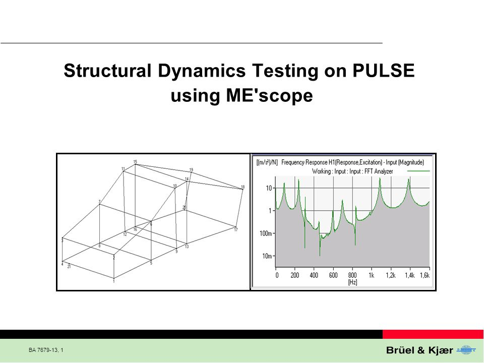 BA 7679-13, 1 Structural Dynamics Testing on PULSE using ME'scope