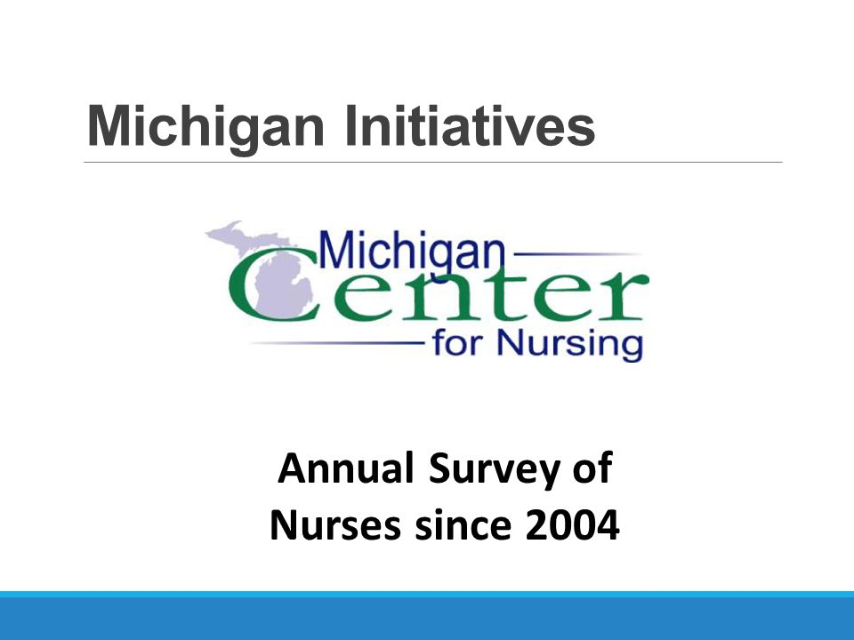 Michigan Initiatives Annual Survey of Nurses since 2004