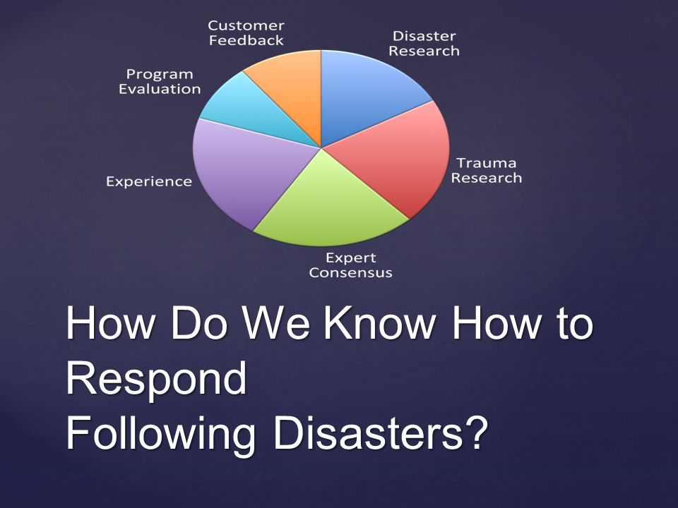 How Do We Know How to Respond Following Disasters