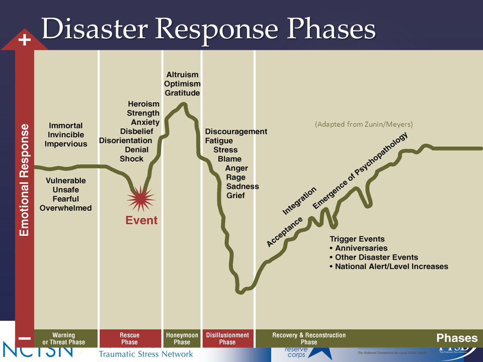 Disaster Response Phases (Adapted from Zunin/Meyers)