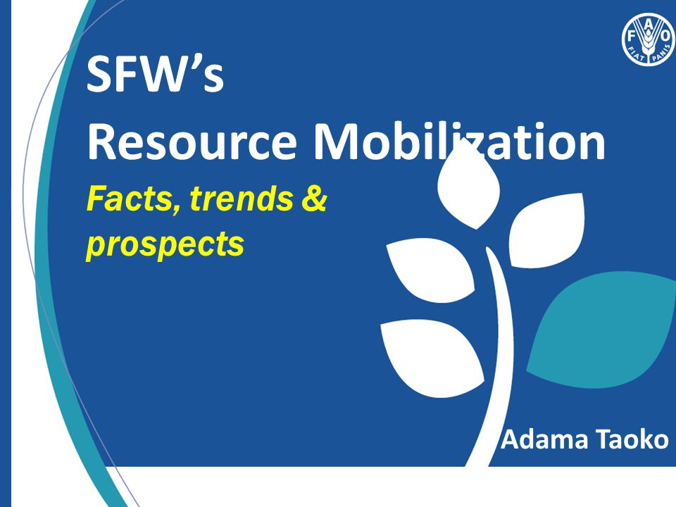 SFW's Resource Mobilization Facts, trends & prospects Adama Taoko