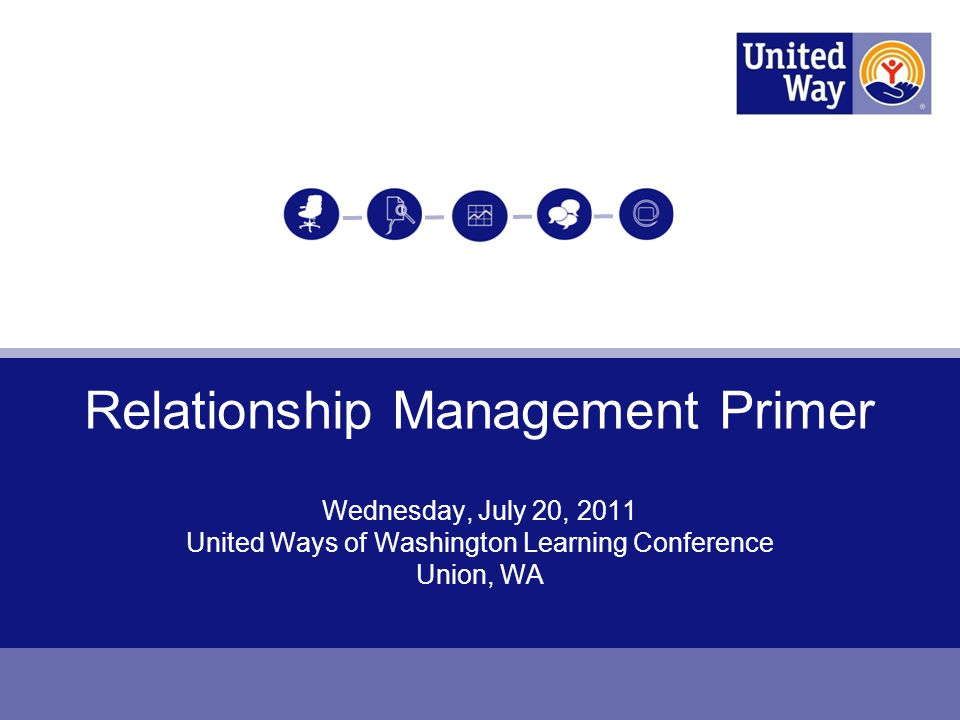 2 Purpose: Present United Way Relationship Management work Process: Use interactive exercises & discussion to: Make the case & focus on top-line of retention/engagement/loyalty Develop sample plan to engage individuals/segments Provide RM basics, discuss benefits, how your UW can get started Payoff: You get why Relationship Management is critical/important & understand how to get started with Relationship Management