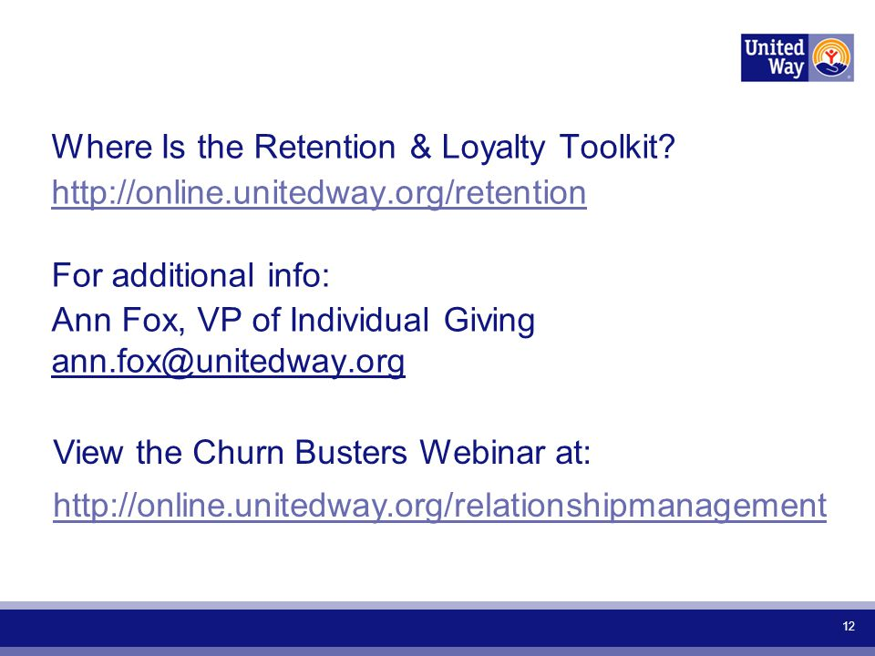 Where Is the Retention & Loyalty Toolkit.