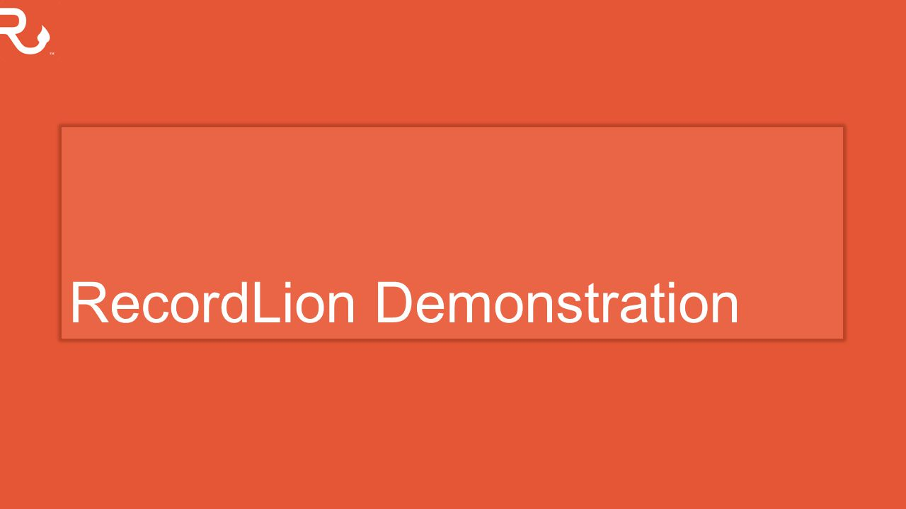 RecordLion Demonstration