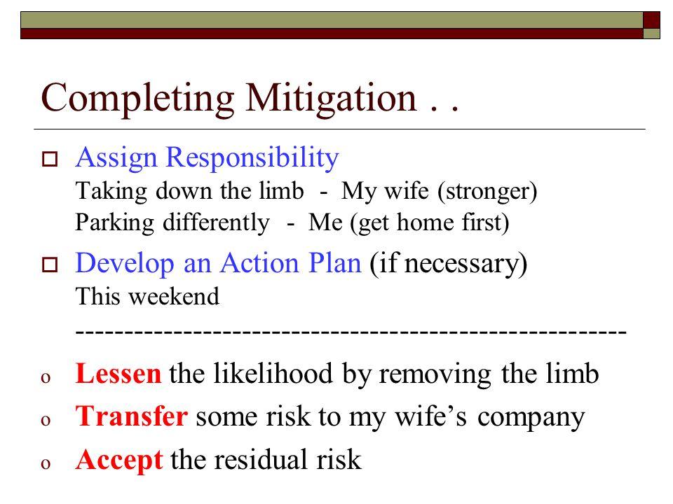Completing Mitigation..
