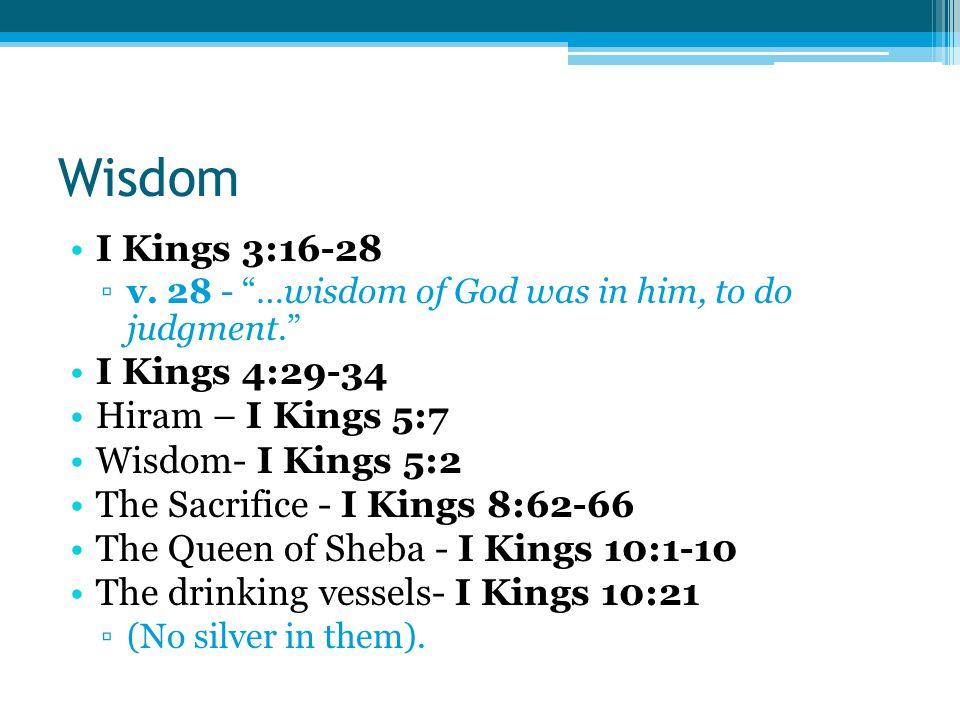 Wisdom I Kings 3:16-28 ▫v.