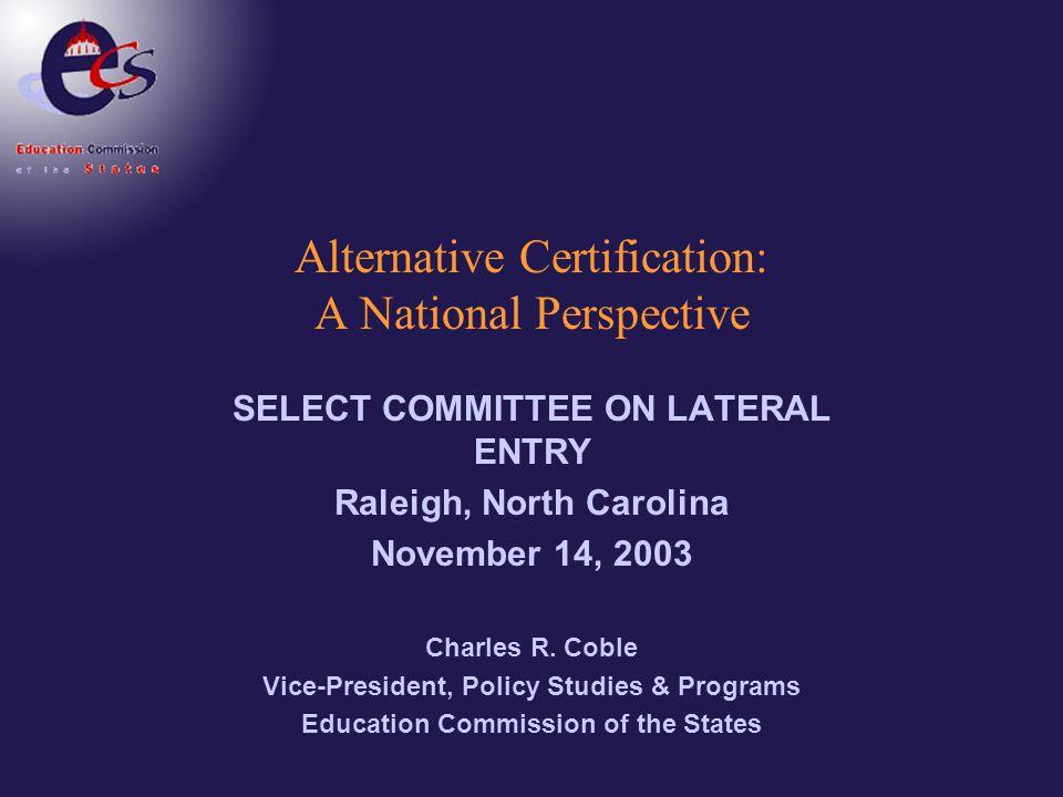 How Effective are Alternative Licensure Teachers.
