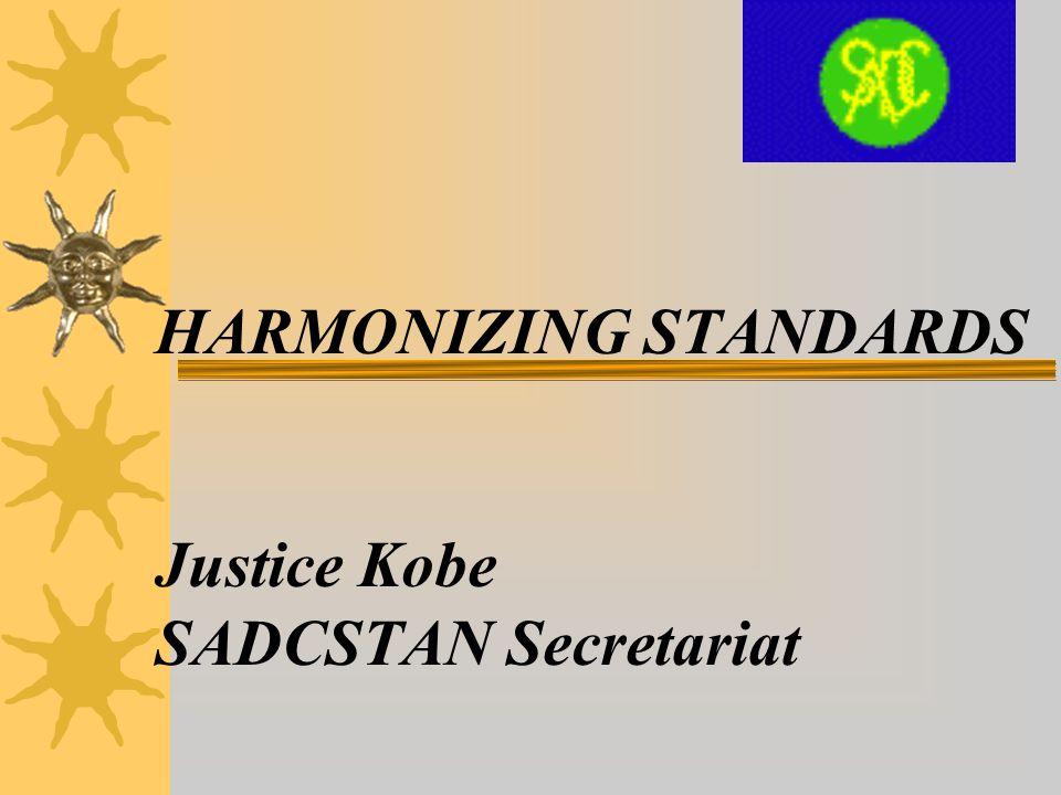 PRESENTATION OUTLINE  Overview of SADCSTAN  Membership of SADCSTAN  SADCSTAN Rules and Structure  SADCSTAN Technical Committees  SADCSTAN Process  Adoption and implementation of SADC harmonized standards  Publication of SADC HS  SADC Harmonized Standards  Conclusion