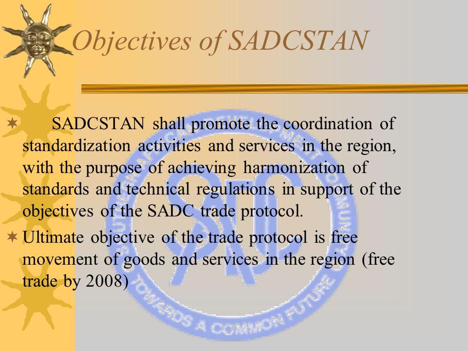 Current SADCSTAN Membership