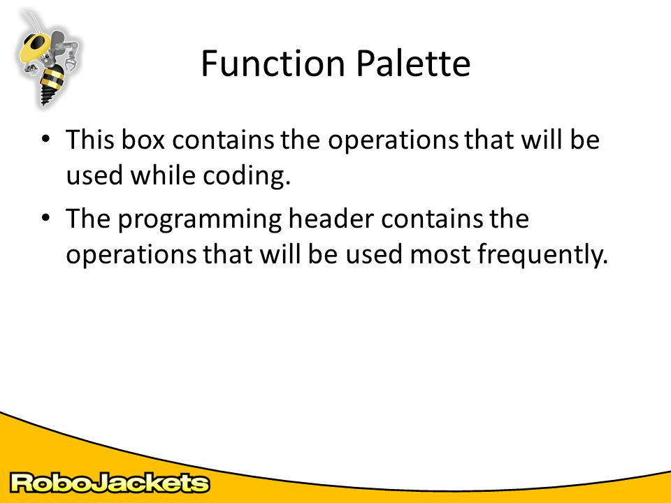 Picture of Function Palette