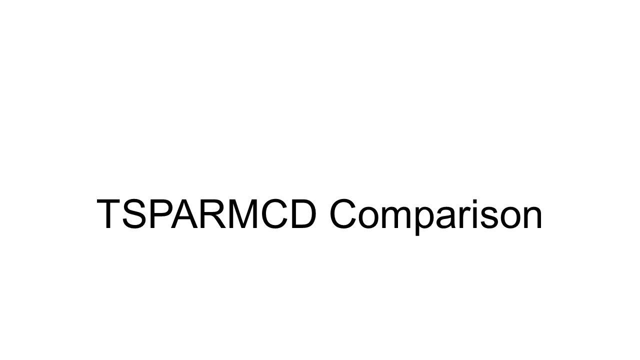 TSPARMCD Comparison