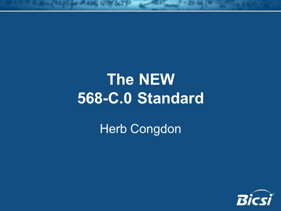 The NEW 568-C.0 Standard Herb Congdon