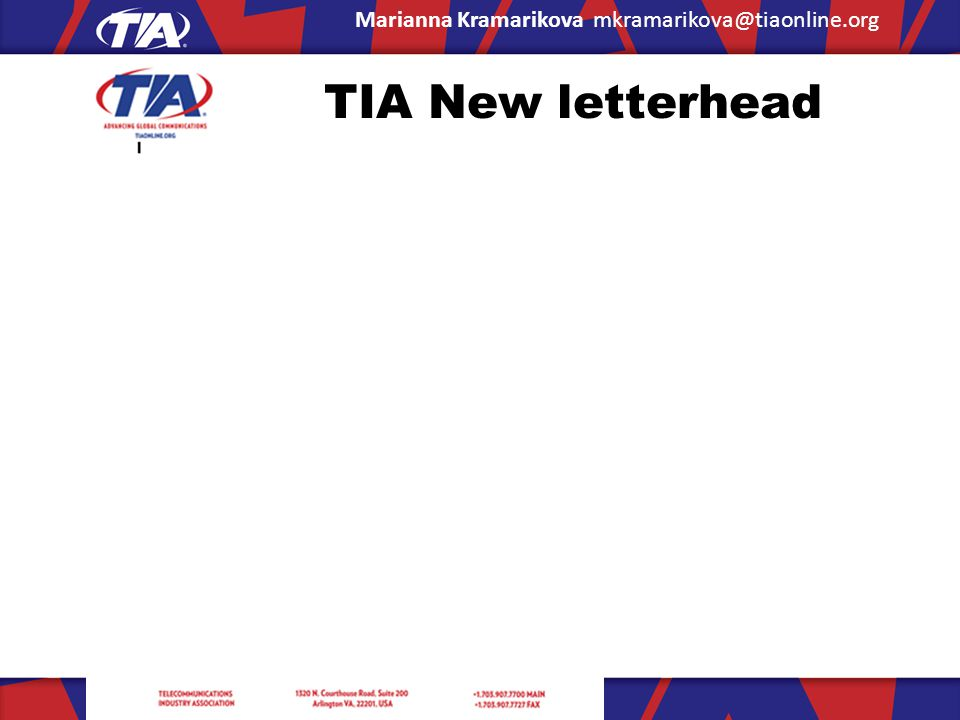 TIA New letterhead
