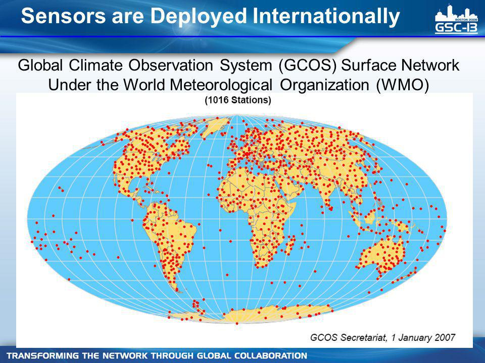 Global Climate Observation System (GCOS) Surface Network Under the World Meteorological Organization (WMO) Sensors are Deployed Internationally