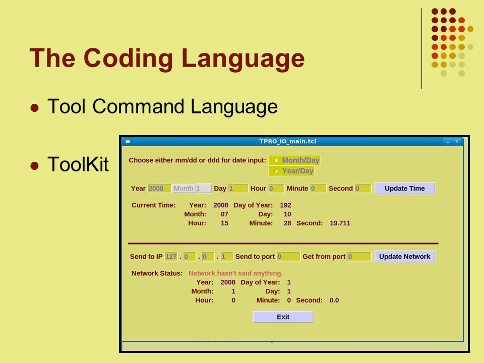 6 The Coding Language Tool Command Language ToolKit
