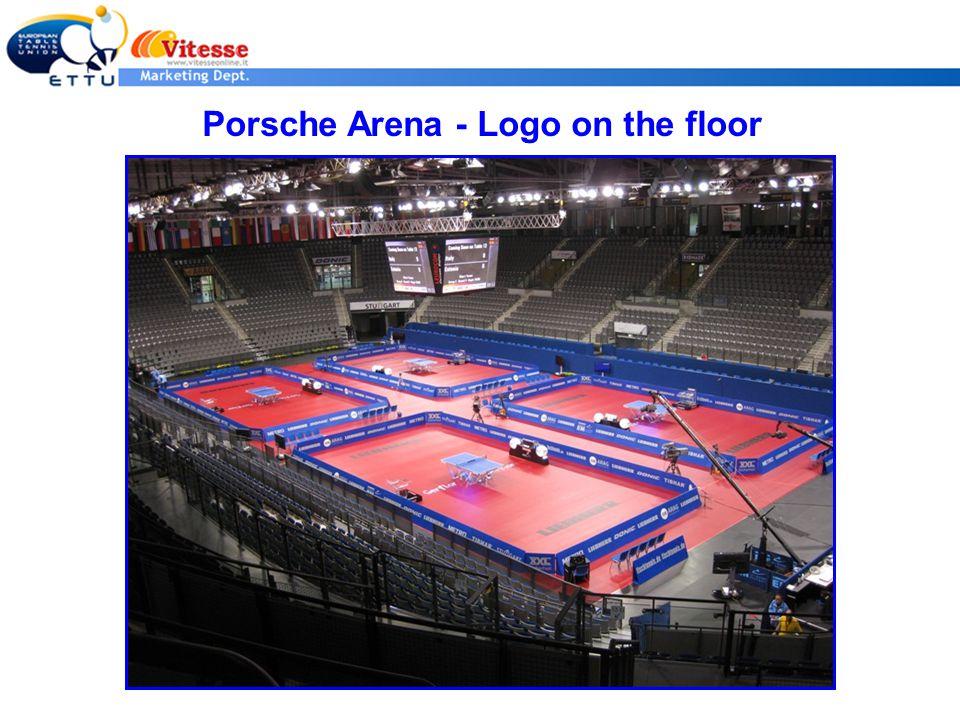 Porsche Arena - Logo on the floor