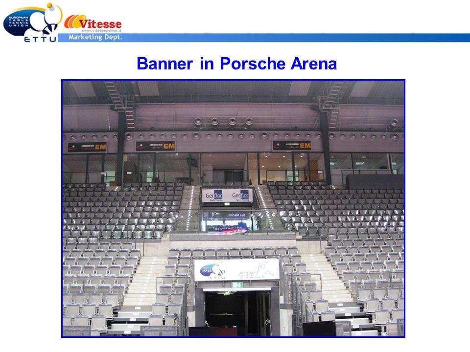 Banner in Porsche Arena