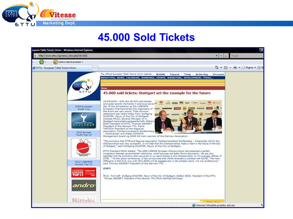 45.000 Sold Tickets