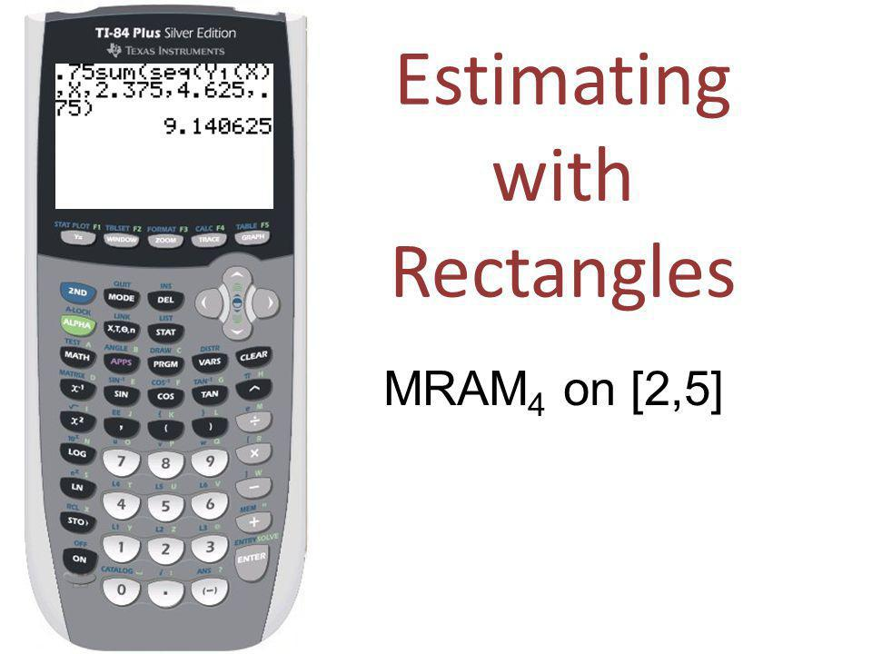 Estimating with Rectangles MRAM 4 on [2,5]