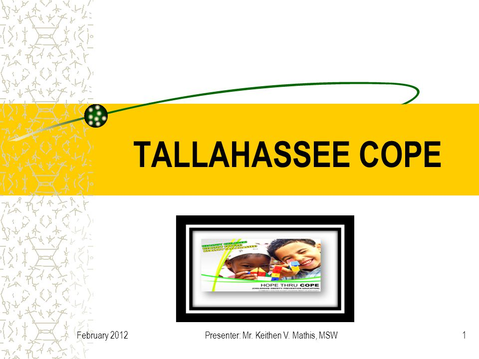 February 2012Presenter: Mr. Keithen V. Mathis, MSW1 TALLAHASSEE COPE