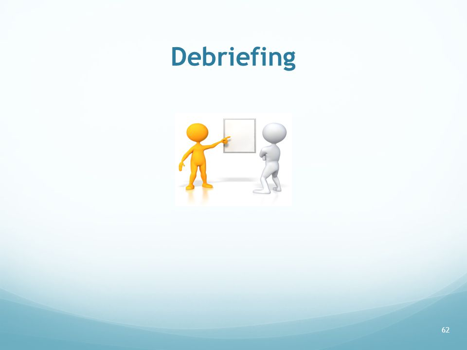 Debriefing 62