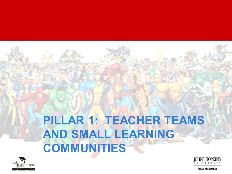 PILLAR 1: TEACHER TEAMS AND SMALL LEARNING COMMUNITIES