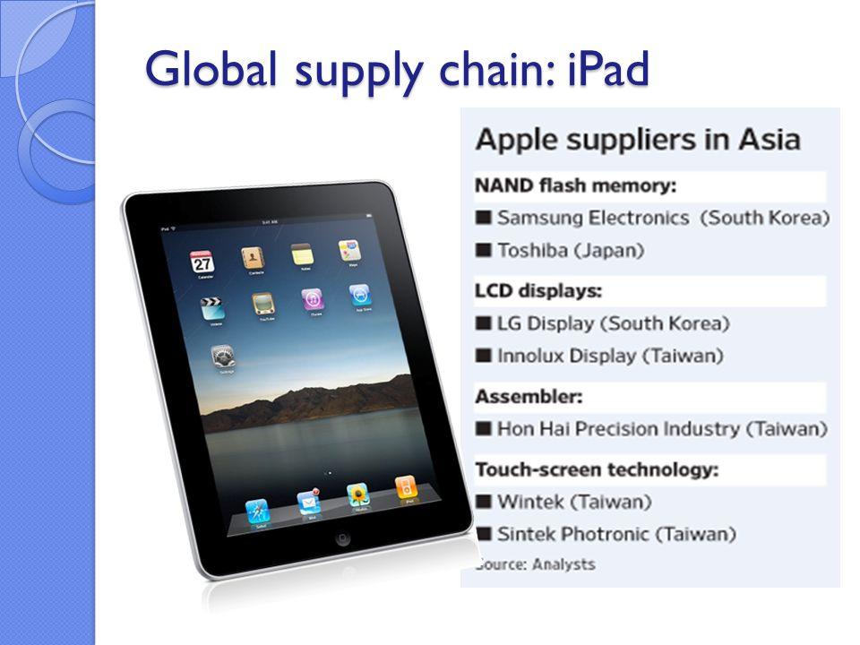 Global supply chain: iPad