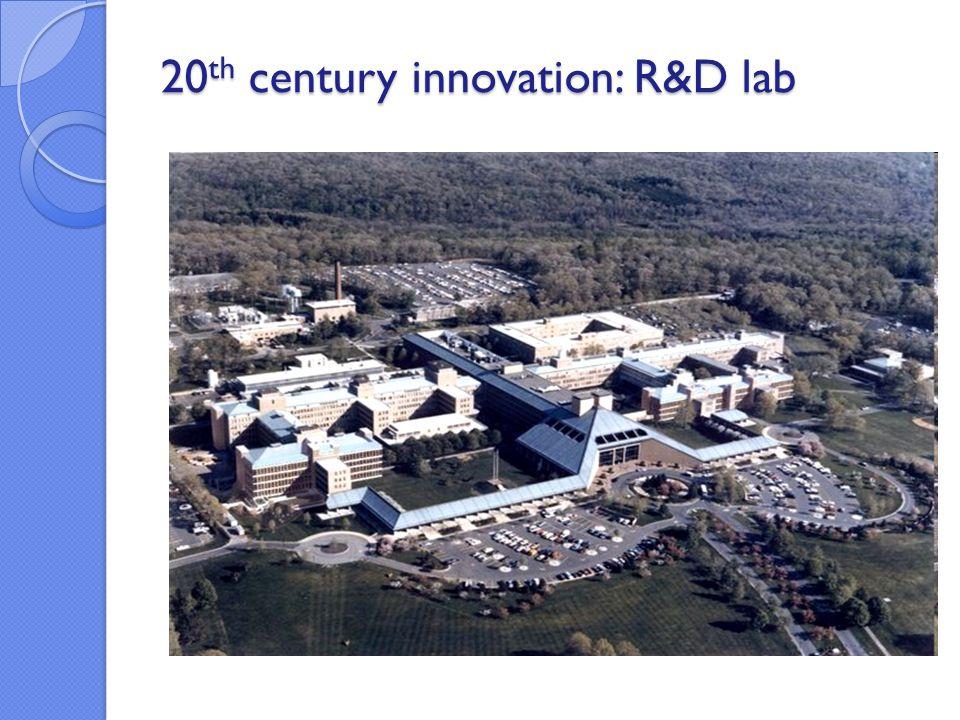 20 th century innovation: R&D lab 20 th century innovation: R&D lab