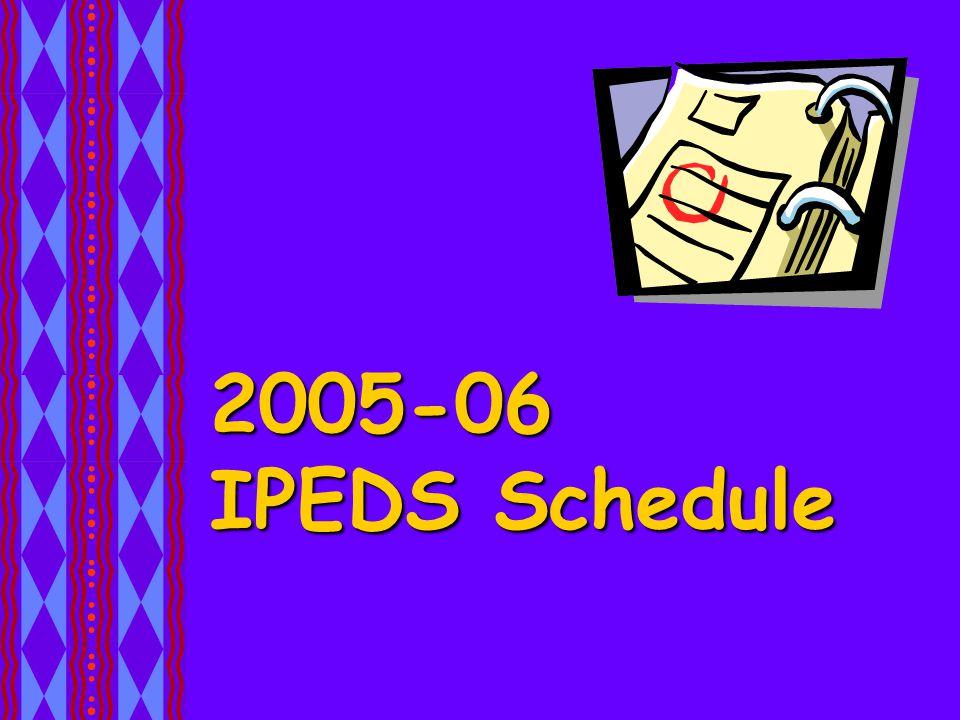 2005-06 IPEDS Schedule