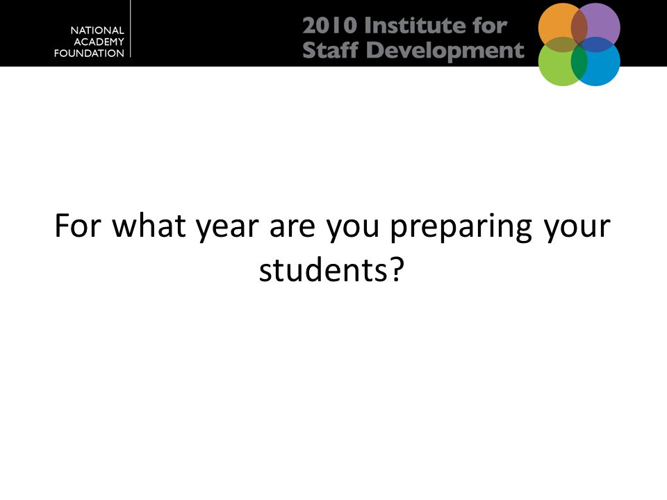 For what year are you preparing your students