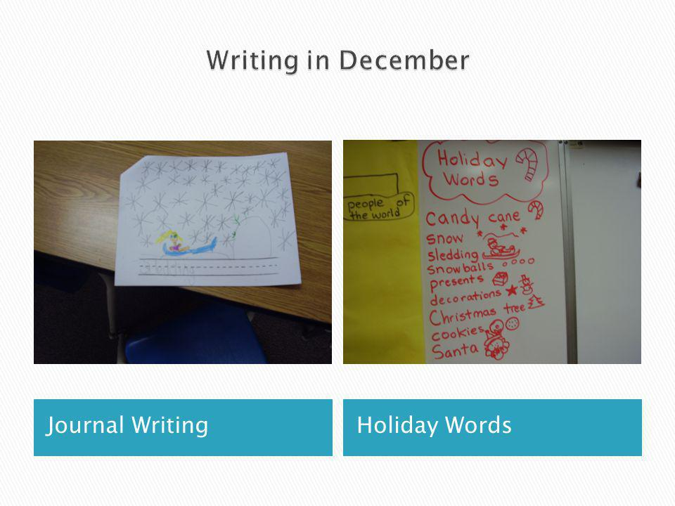 Journal WritingHoliday Words