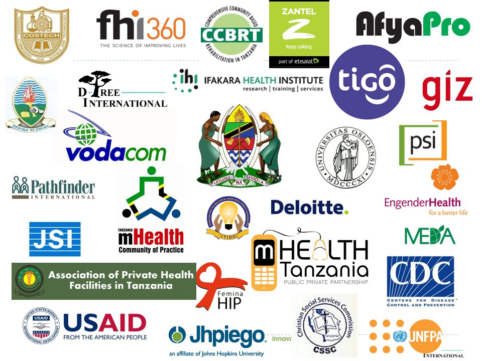 Map  Disease surveillance  Logistics  Telemedicine  Clinical decision support  Health messaging  Community Health workers  Mobile money  More!