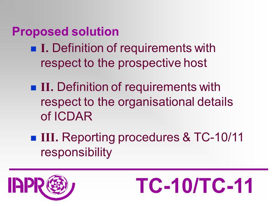 TC-10/TC-11 Proposed solution I.