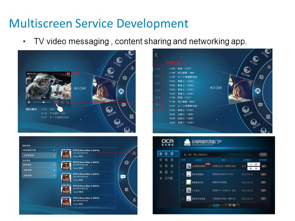 17 TV video messaging, content sharing and networking app. Multiscreen Service Development