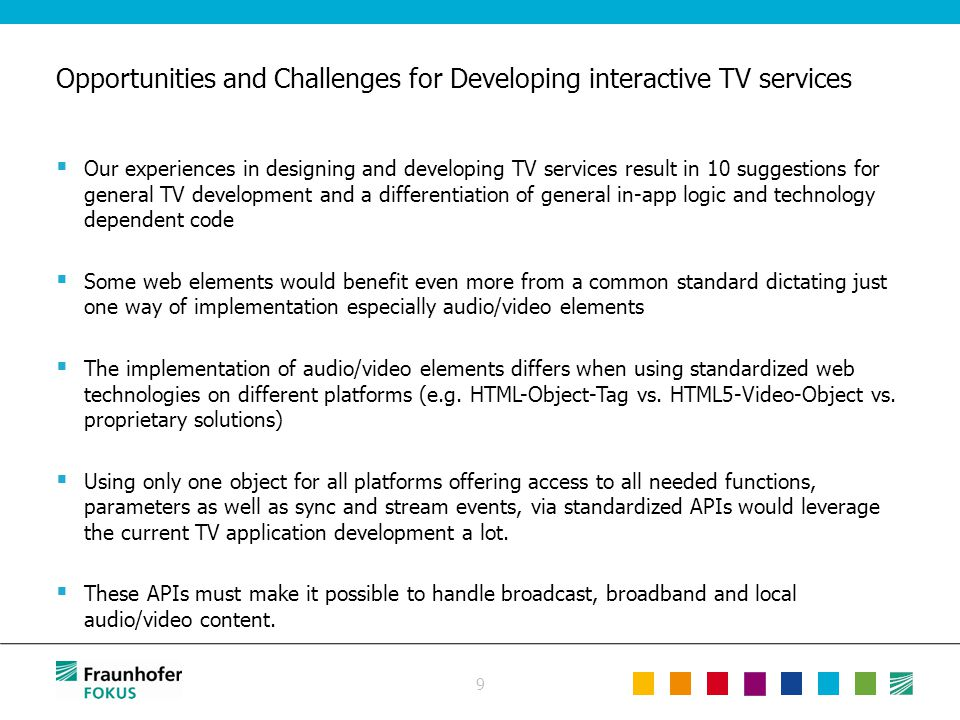 9  Our experiences in designing and developing TV services result in 10 suggestions for general TV development and a differentiation of general in-ap