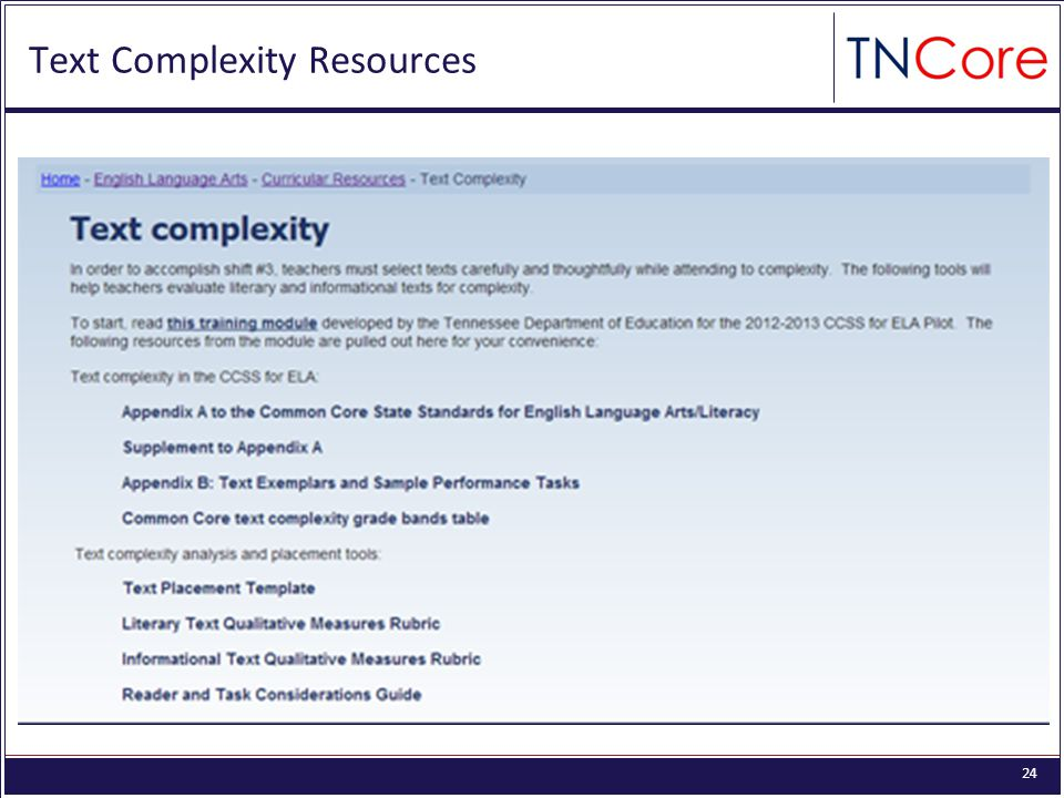 24 Text Complexity Resources