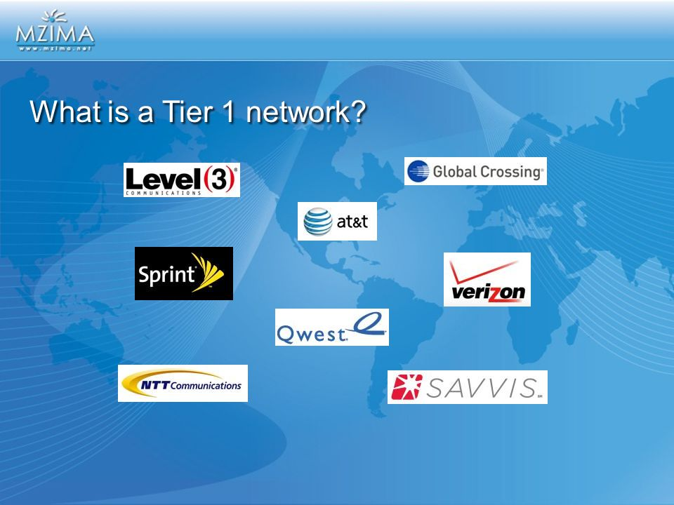 What is a Tier 1 network