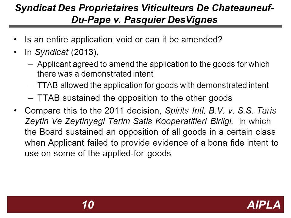 10 10 AIPLA Firm Logo Syndicat Des Proprietaires Viticulteurs De Chateauneuf- Du-Pape v.