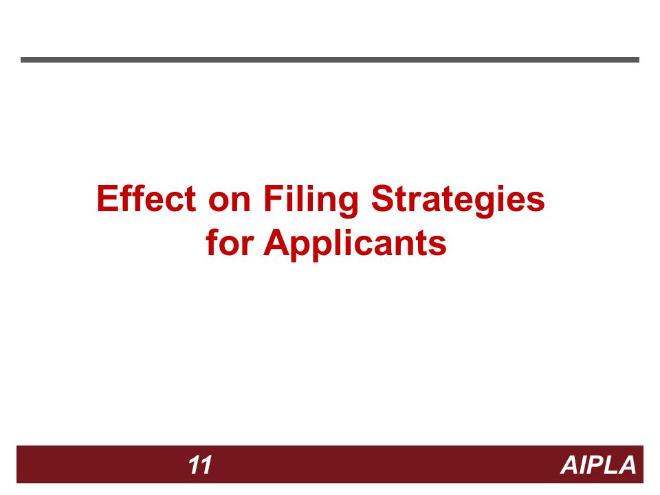 11 11 AIPLA Firm Logo Effect on Filing Strategies for Applicants