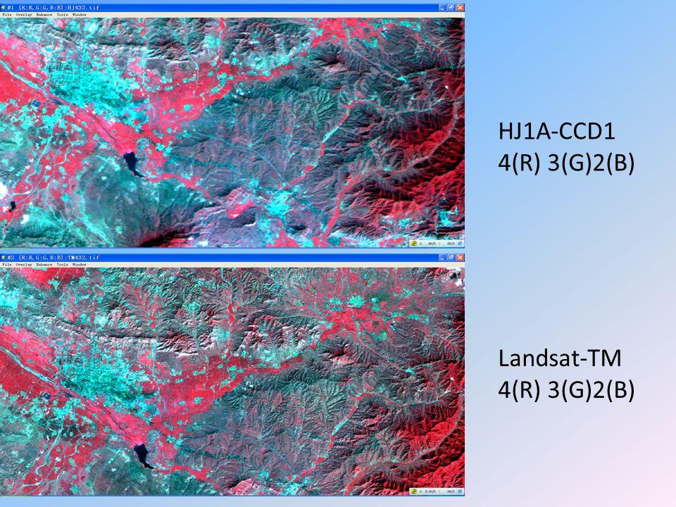 HJ1A-CCD1 4(R) 3(G)2(B) Landsat-TM 4(R) 3(G)2(B)