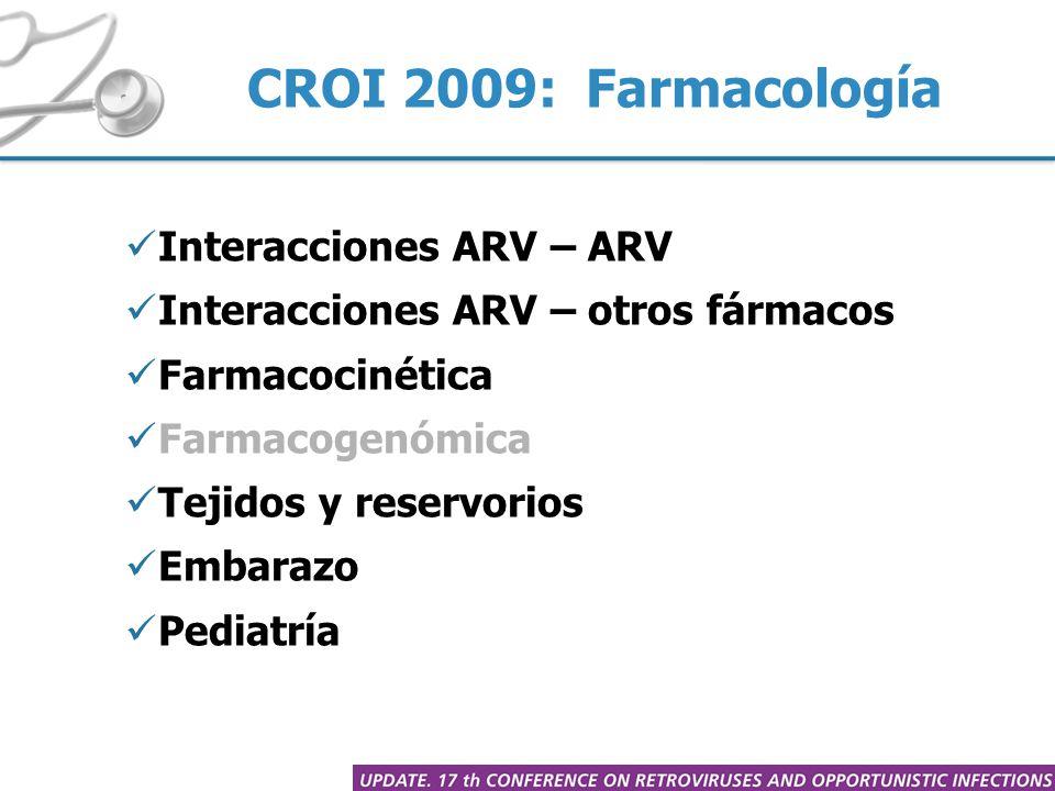 Entre ARV: ETR-RAL-DRV/r (606) ATV y ATV/r – GSK1349572 (616) Interacciones