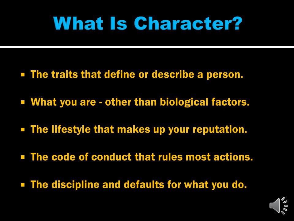Character www.LetGodBeTrue.com